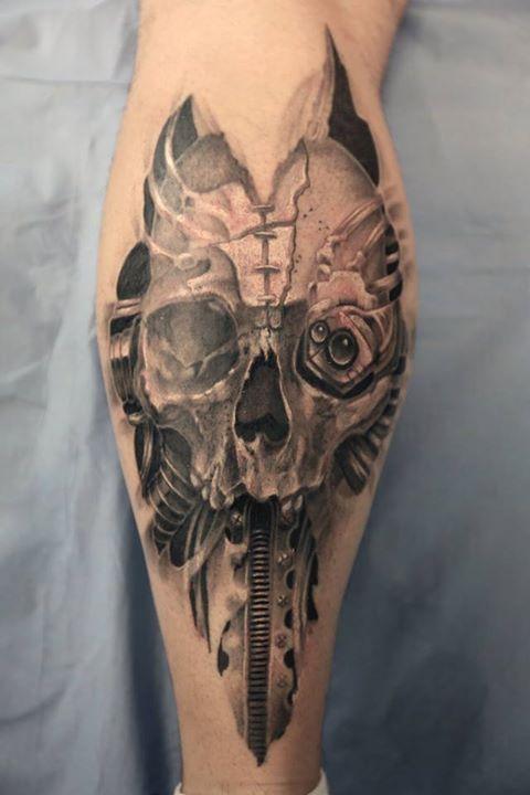 Dorian sb tattoo inkin - Tatouage tete de mort avant bras ...