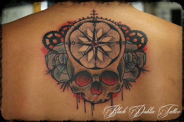 Ink your meat inkin - Rose des vents tattoo ...