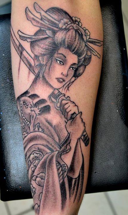 inKin,tatouage,geisha,sabre,bras,FRED
