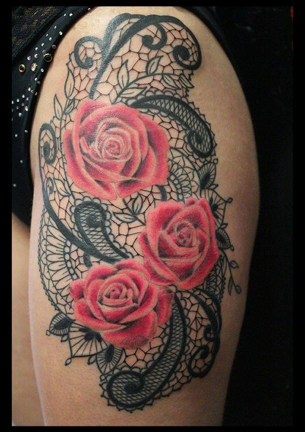 Memoire d 39 encre inkin - Tatouage rose hanche ...