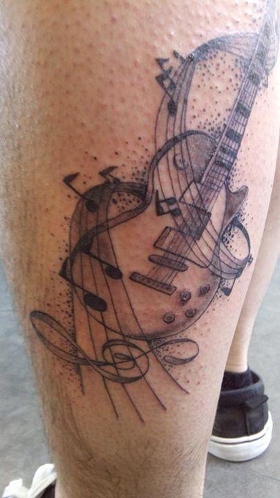 inkin , tatouage guitare