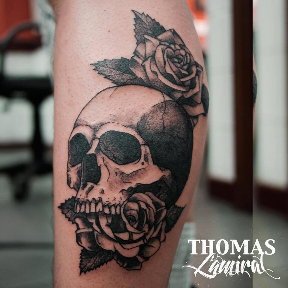 Tin tin tatouages inkin - Tatouage tete de mort avant bras ...