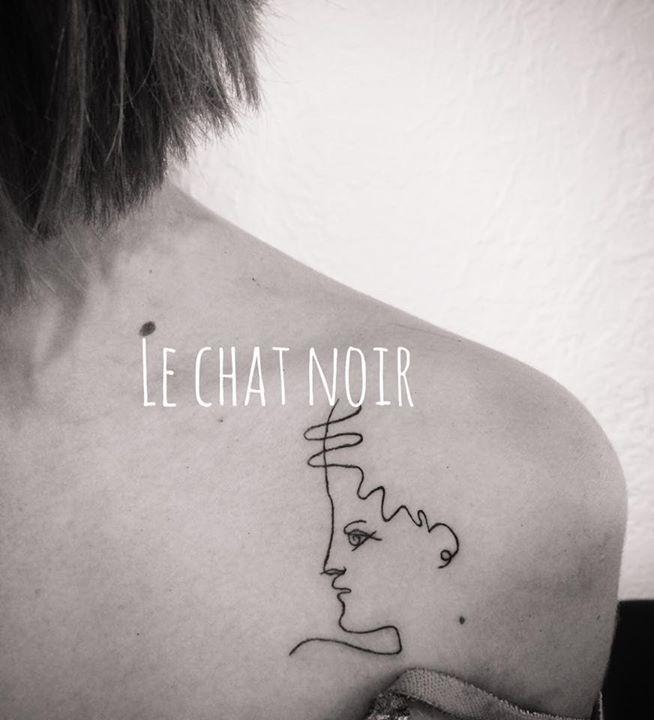 tatouage le chat noir mouans sartoux - tatouage