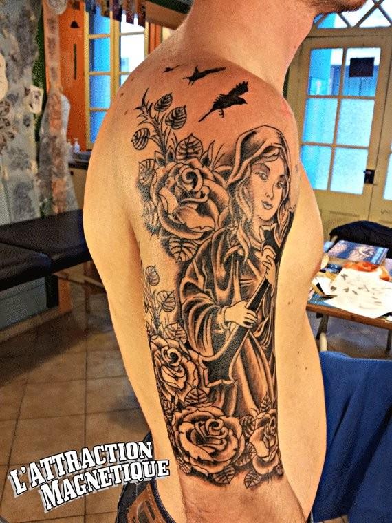 Dessin Tatouage Vierge Kolorisse Developpement