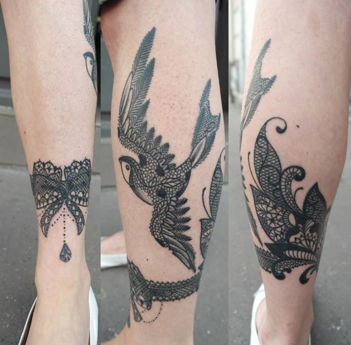 Tatouage Hirondelle Origami Tattoo Art
