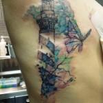 inkin - tatouage phare et papillon aquarelle sur cotes - abraxas saint honoré.jpg