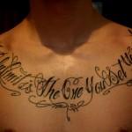 inkin - tatouage calligraphie sur le torse - lost in island.jpg