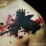 inkin - tatouage graphique corbeau noir et rouge - inky dinky tattoo.jpg