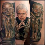 inkin - tatouage giger visage et oeuvre - clockwork needle.jpg