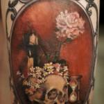 inkin - tatouage cadre tête de mort sur bras - art corpus.jpg