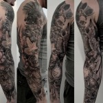annuaire des tatoueurs - black corner tattoo - dieu grec poseidon tatouage