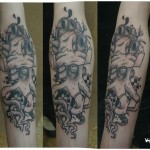 inkin - tatouage graphique poulpe sur bras - baron samedi.jpg