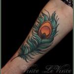 inkin - tatouage plume de paon sur bras - asphalt jungle.jpg