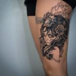 inkin - tatouage fille avec bois de cerf sur cuisse - cryt tattoo.jpg