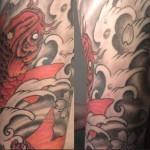 inkin - tatouage carpe japonaise sur bras - cath tattoo.JPG