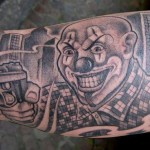 inkin - tatouage clown avant bras - mystery machine tattoo.jpg