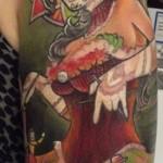 inkin - tatouage santa muerte sur epaule - arena tattoo.jpg