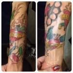 inkin - tatouage old school cerises radis poing américain sur bras - caro tattoo.jpg