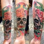 inkin - tatouage crane sur bras - aixtreme tattoo.jpg
