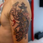annuaire des tatoueurs - Tattoo Tribeca - tatouage-samourai-dragon-pagodes.jpg