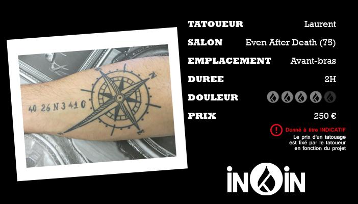 Le Tatouage De Rose Des Vents De Jorge Par Even After Death