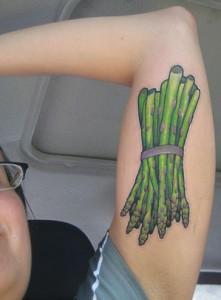 inkin - tatouage asperges