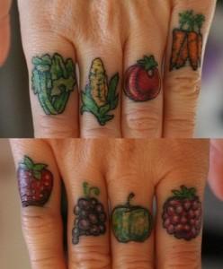 inkin - tatouage potager plein de légmes
