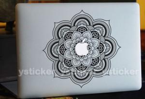idée cadeau - mandala tatouage pour macbook