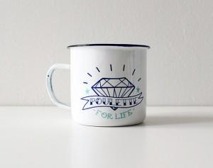 idée cadeau - mug poulette for life