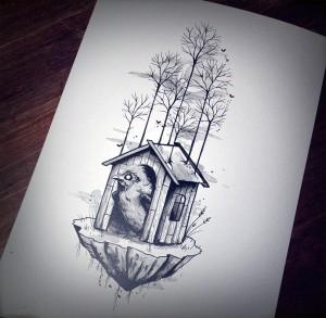 idée cadeau - planche dessin graphique motif tattoo