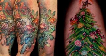 Ho ho ho, et une sélection de tatouages de Noël, une !