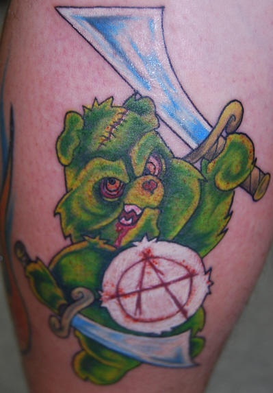 inkin - tatouage bisounours zombie anarchiste