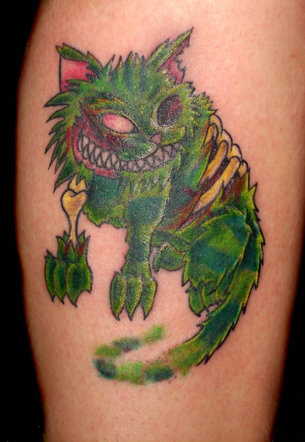 inkin - tatouage chat zombie cheshire cat - Yo-G