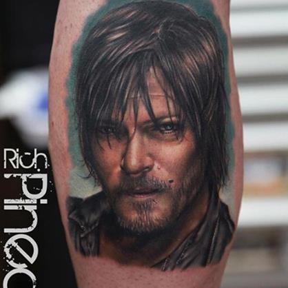 inkin - tatouage daryl walking dead - rich pineda