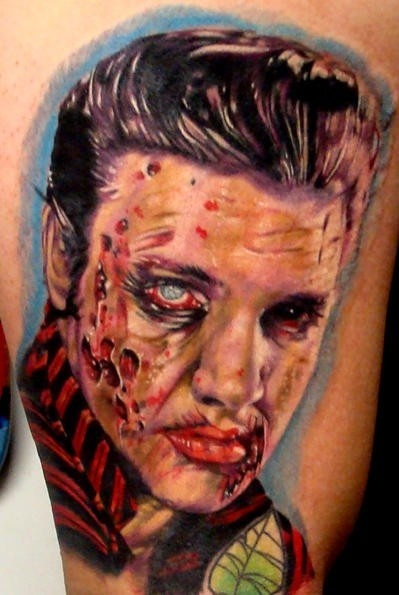 inkin - tatouage elvis zombie