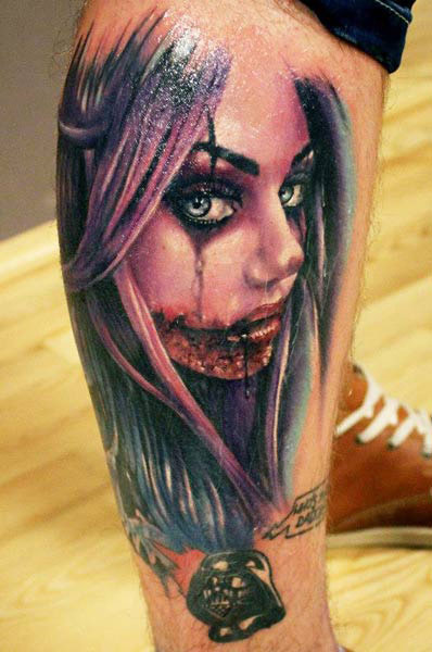 inkin - tatouage fille zombie - proki tattoo