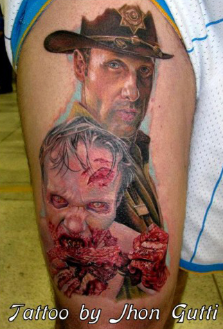inkin - tatouage rick walking dead - jhon gutti