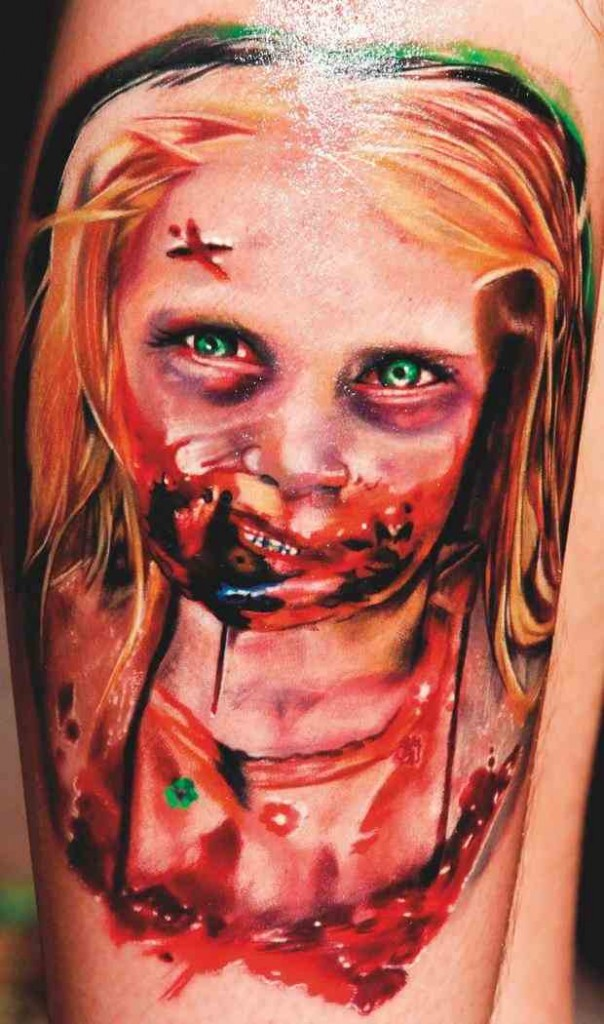 tatouage zombie fillette