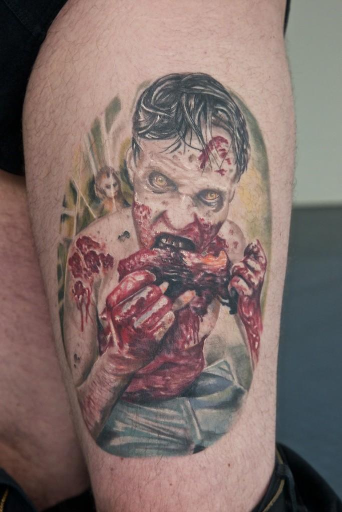 tatouage zombie par graynd