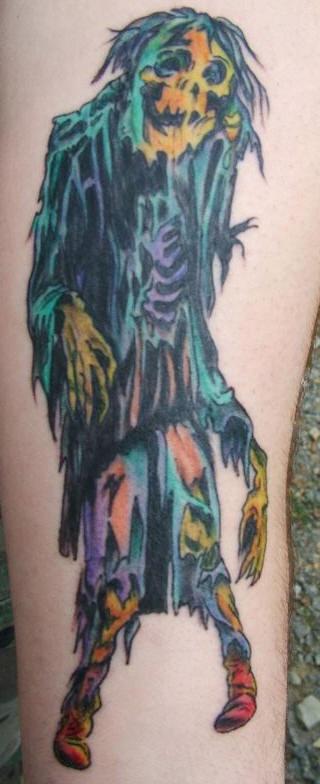 inkin - tatouage zombie multicolore