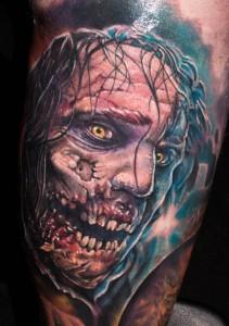 tatouage zombie réaliste