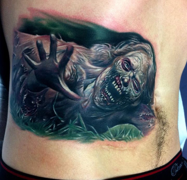 inkin - tatouage zombie - walking dead