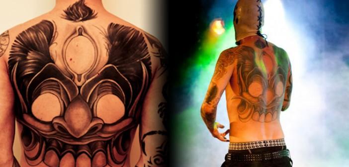 Interview croisée tatoueur / tatoué : le masque balinais de Flow par Romain de Hand in Glove