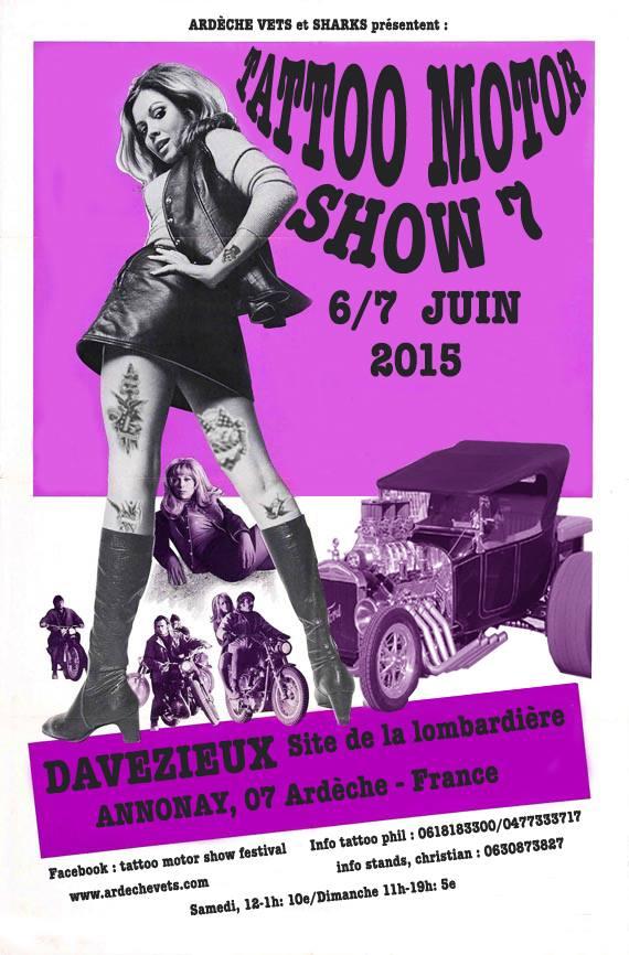 Tattoo motor show Davezieux 2015