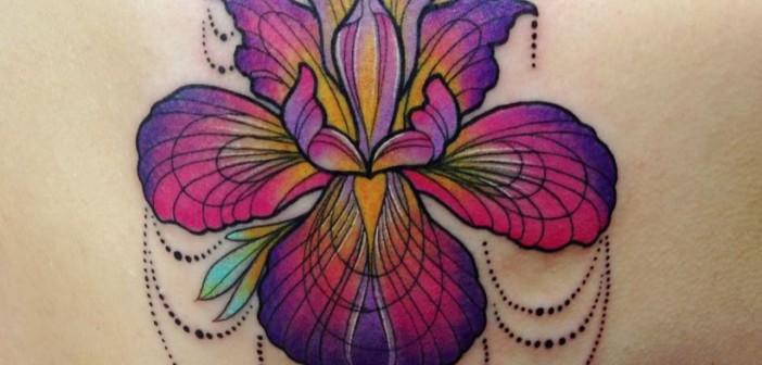 Iris Tatouage les tatouages hauts en couleur de katie shocrylas - inkin
