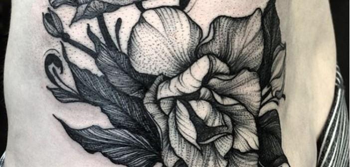 Les tatouages en noir et blanc de Kelly Violet