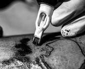 Live tattoo report : le tatouage skull de Seb réalisé par Gael